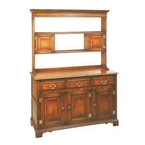 Kitchen Dresser Unit - Solid Oak Dressers & Cupboards - Tudor Oak, UK