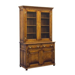 Bookcase with Storage - Solid Oak Bookcases & Bookshelves - Tudor Oak, UK