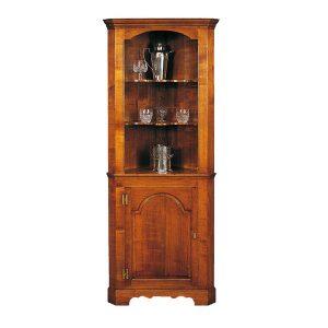 Corner Display Cabinet - Oak Dressers & Cupboards - Tudor Oak, UK