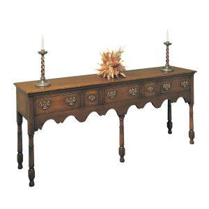 Long Narrow Sideboard - Solid Oak Sideboards - Tudor Oak, UK