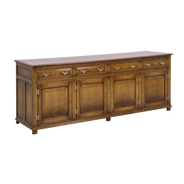 Large Sideboard - Solid Oak Sideboards - Tudor Oak, UK