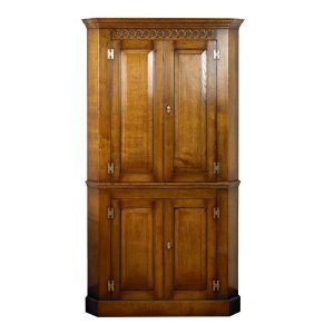 Large Corner Cupboard - Solid Oak Dressers & Cupboards - Tudor Oak, UK