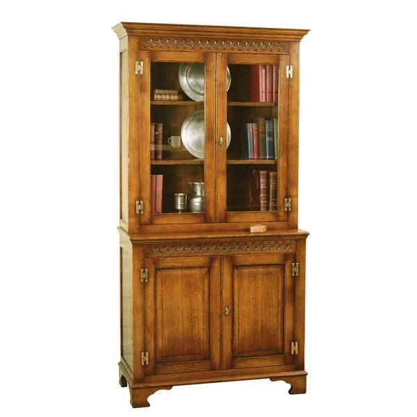 Narrow Bookcase - Solid Wood Bookcases & Bookshelves - Tudor Oak, UK