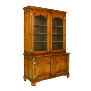 Living Room Storage Cabinet with Doors - Oak Cupboards - Tudor Oak