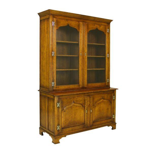 Tall Bookcase - Solid Oak Bookcases & Bookshelves - Tudor Oak, UK