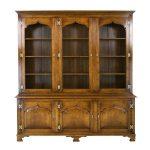 Wide Bookcase - Solid Oak Bookcases & Bookshelves - Tudor Oak, UK
