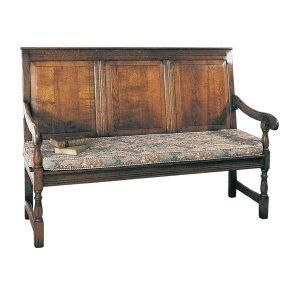 Traditional Hall Bench - Oak Benches, Settles & Stools - Tudor Oak, UK