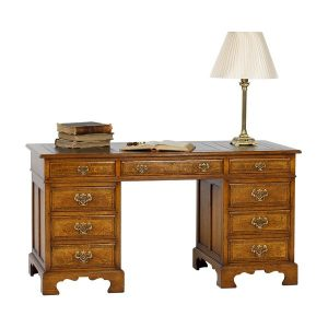 Home Office Desk - Solid Oak Desks & Writing Tables - Tudor Oak, UK