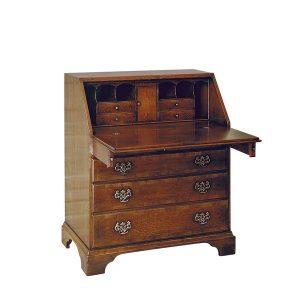 Writing Bureau - Solid Oak Writing Bureau Desks - Tudor Oak, UK
