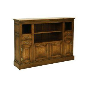 Large Oak Media Unit - Oak TV Cabinets & Media Units - Tudor Oak, UK