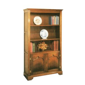 Slim Bookcase - Solid Oak Bookcases & Bookshelves - Tudor Oak, UK