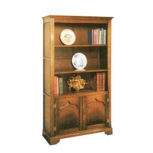 Slim Bookcase - Solid Oak Bookcases & Bookshelves - Tudor Oak, UK