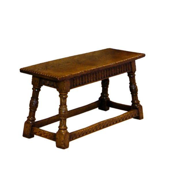 Carved Wooden Bench - Oak Benches, Settles & Stools - Tudor Oak, UK