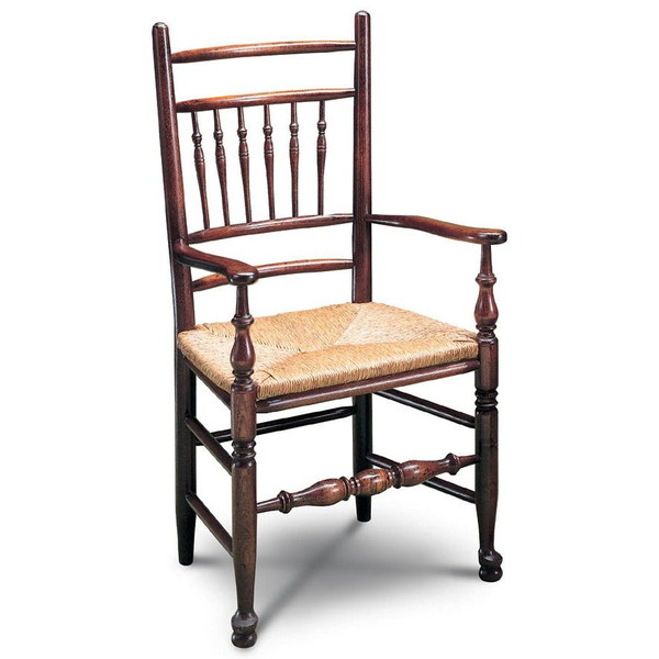 Lancashire Spindle Chair with Arms - Windsor Chairs - Tudor Oak, UK