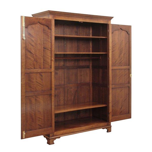 Tall Wardrobe with 2 Doors - Solid Oak Wardrobes - Tudor Oak, UK