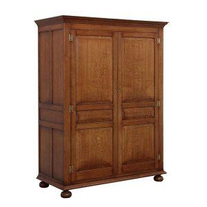 English Oak 2 Door Wardrobe - Solid Oak Wardrobes - Tudor Oak, UK