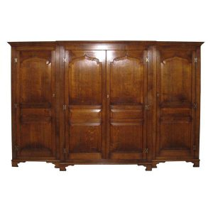 Large Wardrobe with 4 Doors - Solid Oak Wardrobes - Tudor Oak, UK