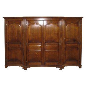 Large Wardrobe with 4 Doors - Solid Oak Wardrobes - Tudor Oak, UK