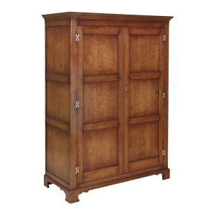 Oak Double Wardrobe with Doors - Solid Oak Wardrobes - Tudor Oak, UK