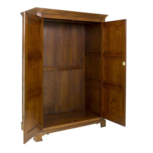 Oak Double Wardrobe with Doors - Solid Oak Wardrobes - Tudor Oak, UK