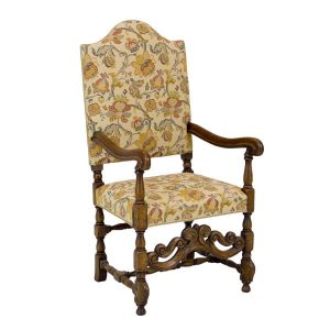 Carved Arm Chair - Bespoke Wooden Dining Chairs - Tudor Oak, UK