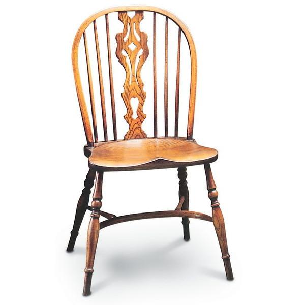 Traditional Georgian Windsor Chairs with fretted splat - Tudor Oak, UK