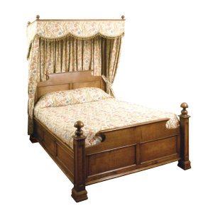 Classic Half Tester Bed - Handmade Bespoke Solid Oak Beds - Tudor Oak