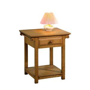 Rustic Bedside Table - Modern Oak Furniture - Tudor Oak, UK