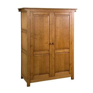 Rustic Wardrobe - Modern Oak Furniture - Tudor Oak, UK