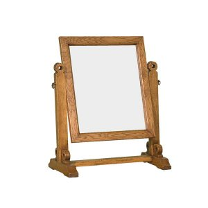 Rustic Swivel Mirror - Modern Oak Furniture - Tudor Oak, UK