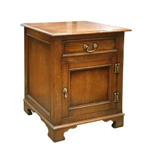 Wooden Bedside Table - Solid Oak Bedside Tables & Cabinets - Tudor Oak