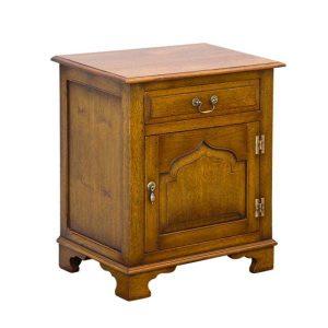 English Oak Bedside Cabinet - Solid Oak Bedside Tables - Tudor Oak, UK