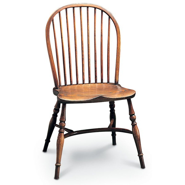 Stick Back Windsor Dining Chair - Oak Windsor Chairs - Tudor Oak, UK