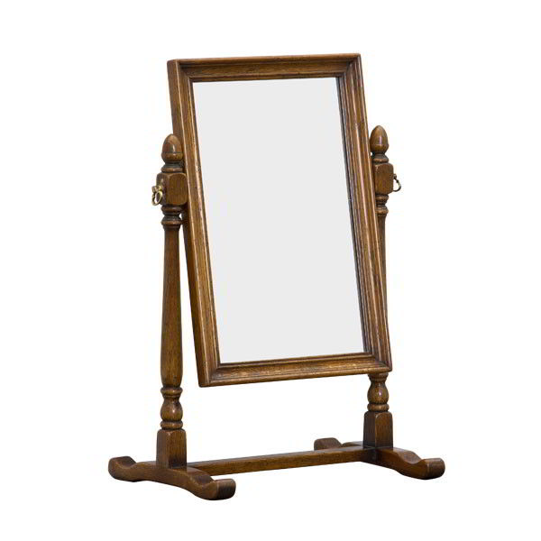 Table Top Mirror - Oak Framed Dressing Table Mirrors - Tudor Oak, UK