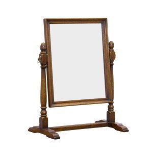 Wooden Dressing Table Mirror - Dressing Table Mirrors - Tudor Oak, UK