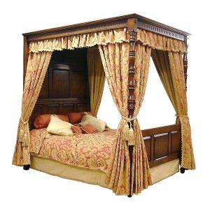 Wooden Four Poster Bed - Handmade Bespoke Solid Oak Beds - Tudor Oak