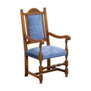 Traditional Arm Chair - Bespoke Oak Dining Chairs - Tudor Oak, UK