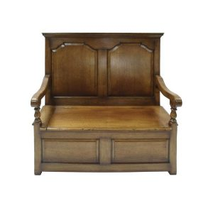Solid Oak Monks Bench - Oak Benches, Settles & Stools - Tudor Oak, UK