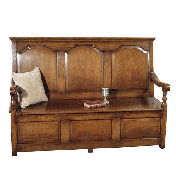Large Storage Bench - Oak Benches, Settles & Stools - Tudor Oak, UK