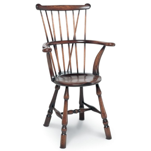 Goldsmith Armchair - Classic Windsor Carver Chairs - Tudor Oak, UK