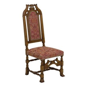 Carved Dining Chair - Traditional Wooden Dining Chairs - Tudor Oak, UK