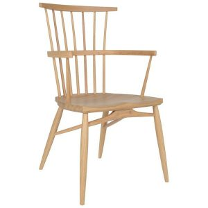 Clissett Contemporary Dining Room Chair with Arms - Tudor Oak, UK