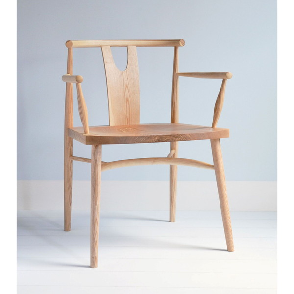 Evie Armchair - In the Style of Wishbone Armchair - Tudor Oak, UK