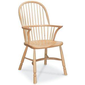 Richmond Modern Oak Dining Chair with Arms - Tudor Oak, UK