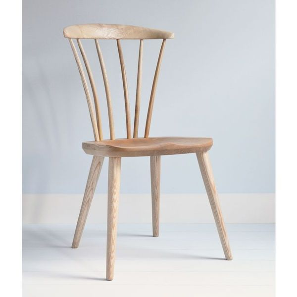 Thetford Modern Wooden Dining Chair - Modern Windsor - Tudor Oak, UK