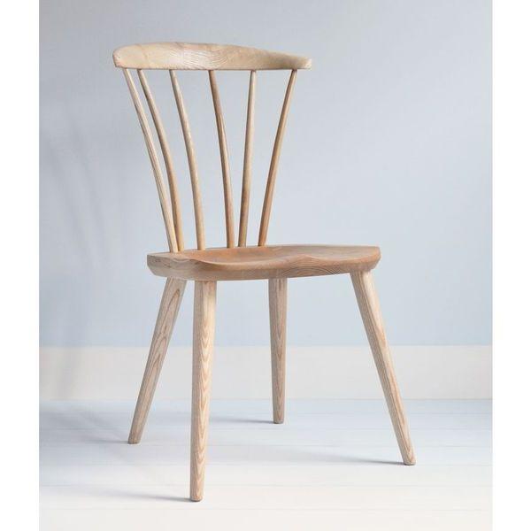 Thetford Modern Wooden Dining Chair - Modern Windsor - Tudor Oak, UK