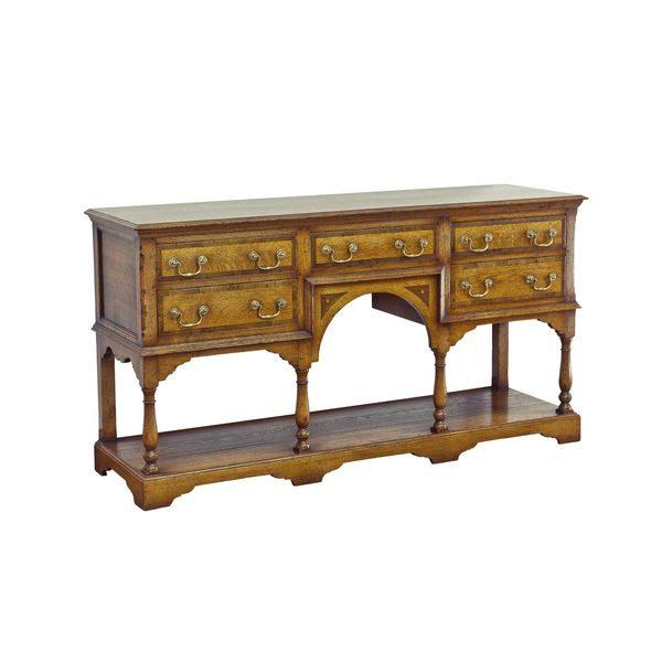 English Oak Buffet Table - Solid Wood Sideboards - Tudor Oak, UK