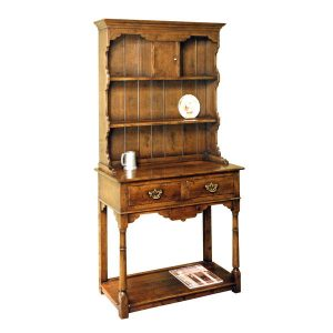 Narrow Dresser - Solid Oak Dressers & Cupboards - Tudor Oak, UK