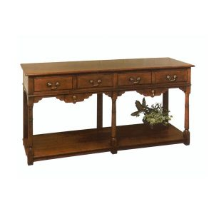 Solid Wood Slim Sideboard - Solid Oak Sideboards - Tudor Oak, UK