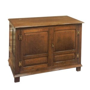 Wooden HiFi Cabinet - Oak TV Cabinets & Media Units - Tudor Oak, UK